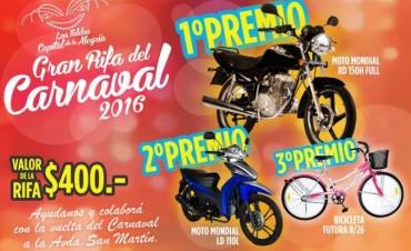 Ya saliò la gran rifa del Carnaval 2016