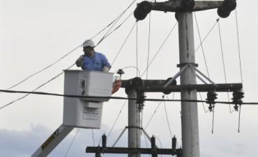 Debido al clima, la Cooperativa elèctrica se viò obligada a suspender el corte que se había programado para el día de hoy.