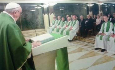 El Obispo de Nueve de Julio asistió a una Misa de Francisco en Santa Marta