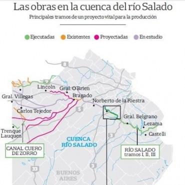 Río Salado: avanza licitación de obras para evitar inundaciones.