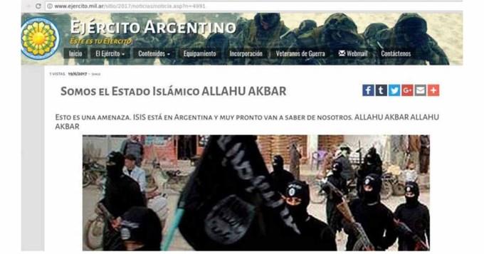 Hackean sitio web del Ejército: