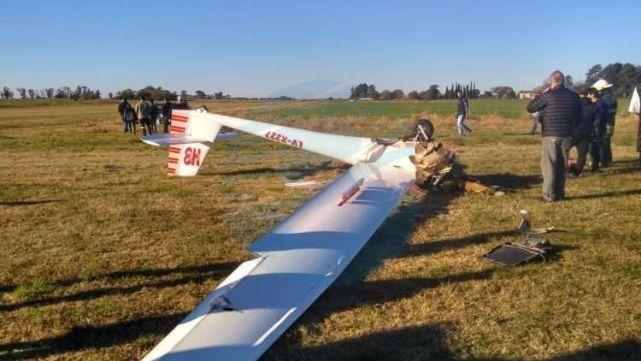 Una piloto se estrelló con su planeador en Santa Fe