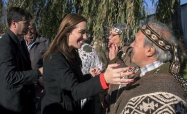 """Maria Eugenia Vidal en Los Toldos: """"La provincia fue discriminada durante muchos años"""""""