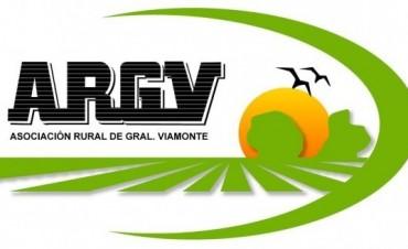 Informa la Asociación rural de Gral Viamonte