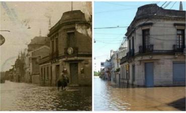 Inundaciones: la increíble de foto de una esquina de la ciudad de Luján