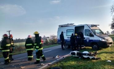Un motociclista falleció tras una colisión frontal en la ruta 65