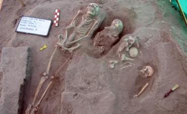 Un cementerio indígena de 1200 años fue hallado con catorce esqueletos