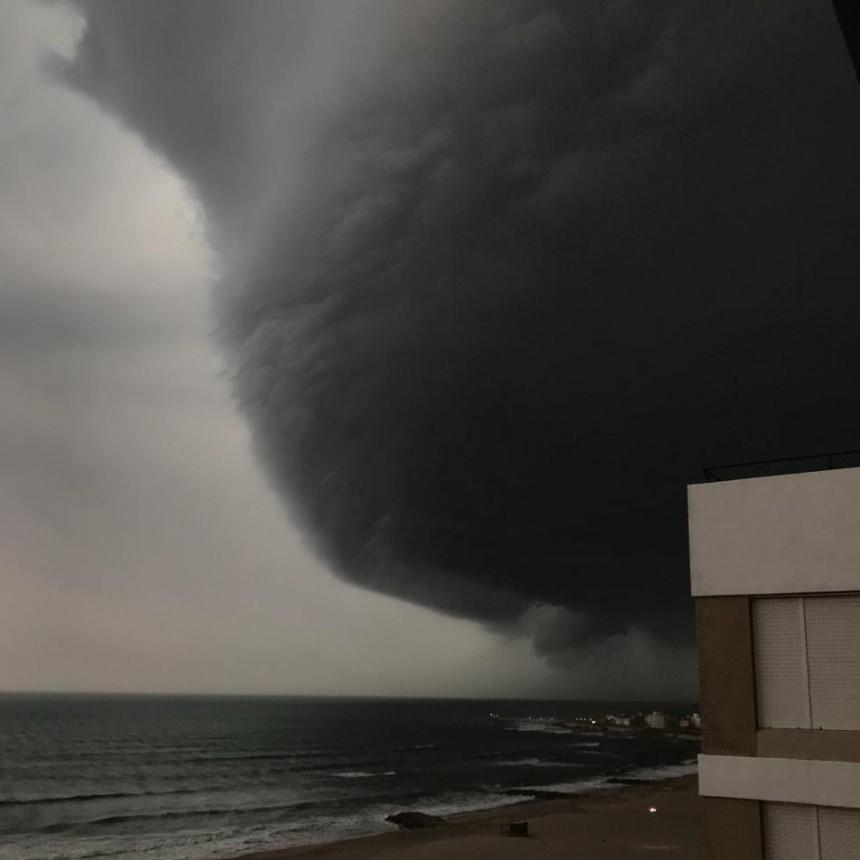 Varias ciudades de la Costa fueron azotadas por un fuerte temporal