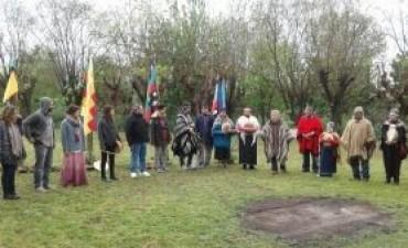Delegaciones de varias localidades participaron de la ceremonia del rebrote y el Entuzuamn