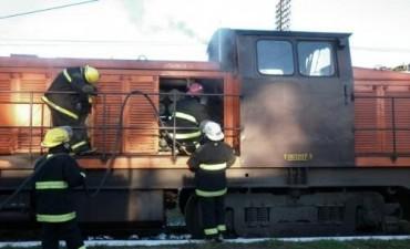 Se incendió una locomotora en la estación Bragado