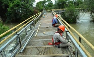 Avanzan los trabajos en las pasarelas del Circuito Garganta del Diablo