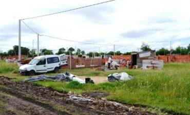 Más de 20 casas se están construyendo en terrenos que eran del CEF y ya se notan cambios en la fisonomía barrial