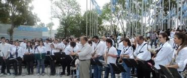La Banda que dirige el maestro Jorge Fronti estuvo en Tecnopolis