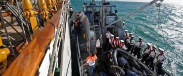 La Fragata Libertad arriba a Mar del Plata