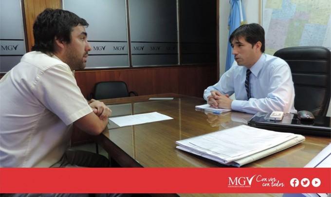 El intendente Dr Franco Flexas se reune con entidades de Baigorrita
