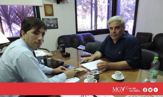 El intendente de Gral Viamonte de reùne con instituciones de Zavalia