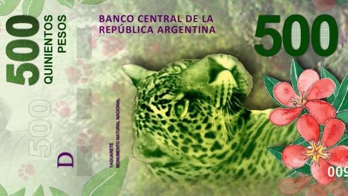 Nuevos billetes de $200 y $500 con fauna y regiones argentinas