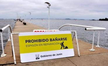 Por precaución se clausuró el espigón del Parque Natural Laguna de Gómez