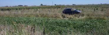 Volcó un auto con 4 ocupantes de Los Toldos en la ruta 65