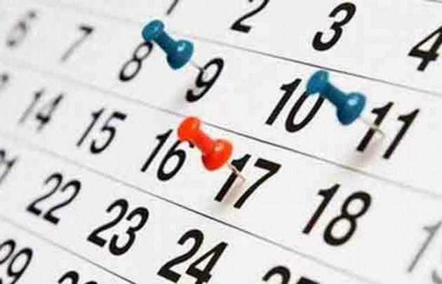 Calendario 2018.  Tomá nota: estos son los fines de semana largos en 2018