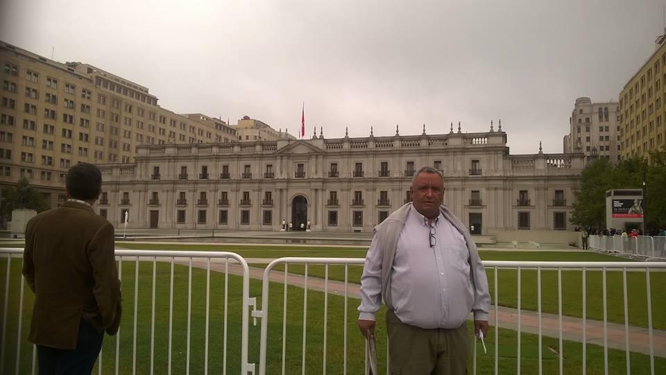 El Toldense Fabian Coliqueo Fabian Coliqueo  se llego hasta el país trasandino para presenciar la llegada del Papa