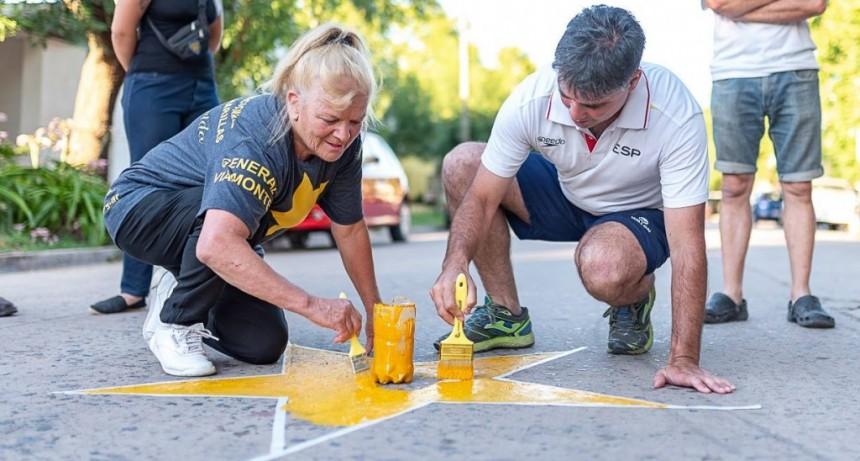 El Grupo Estrellas Amarillas Los Toldos, pintó una nueva Estrella
