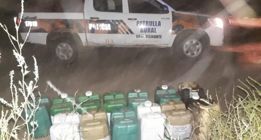 Roban combustible de un establecimiento rural