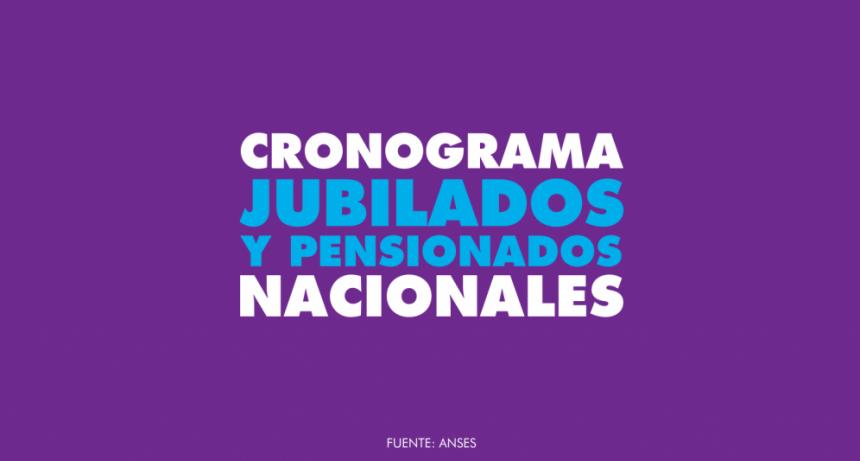 JUBILADOS NACIONALES | Cronograma de pago Enero 2020