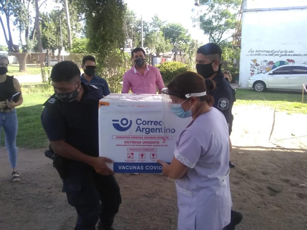 ¡Llegaron las vacunas al distrito de Gral Viamonte!