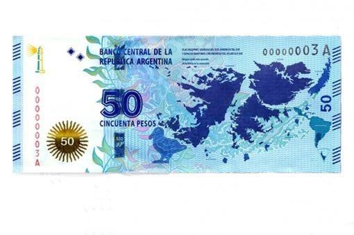 Circularán desde marzo billetes de $50 con motivo de Islas Malvinas