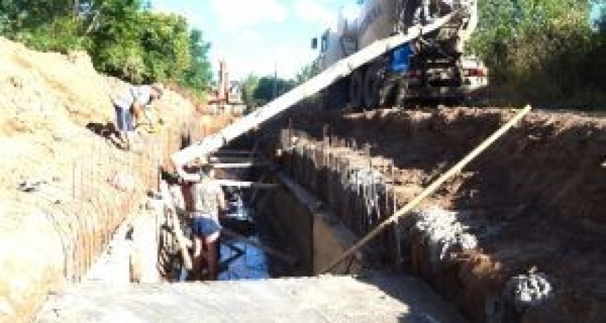 Restan aproximadamente 30 metros para completar el conducto rectangular de 800 metros de largo. La inversión supera los 14 millones de pesos.