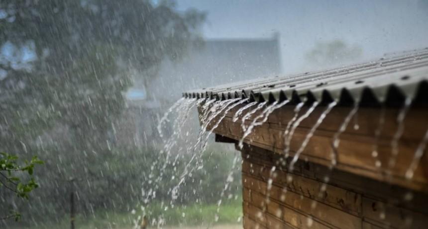 Registro de lluvia en la región