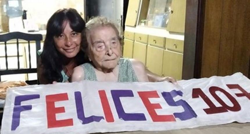 Una mujer de Facundo Quiroga celebró sus 107 años