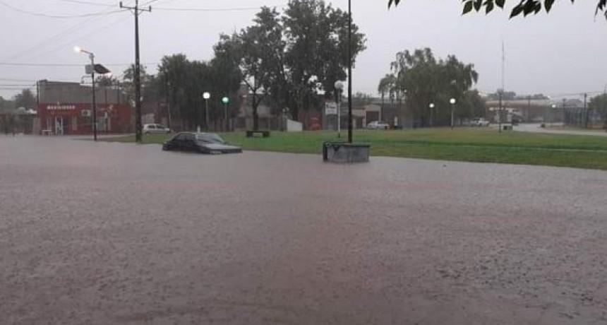 Chivilcoy se vio desbordada de agua. LLovieron 130 mm