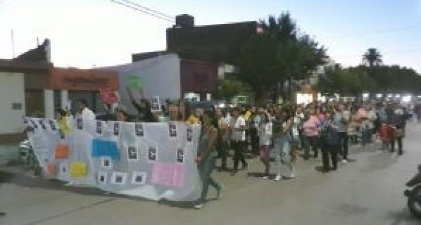 Movilización en Los Toldos.