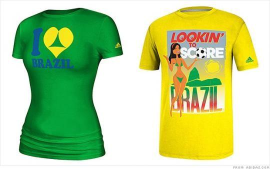Adidas retiró camisetas alusivas al Mundial de Brasil por ser muy