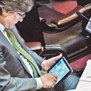 De no creer: mientras Capitanich exponía, Boudou jugaba al Sudoku