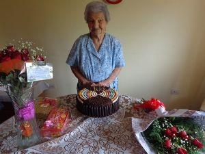 BAIGORRITA Juanita Malchiodi acaba de cumplir 103 años y es la persona con mayor edad