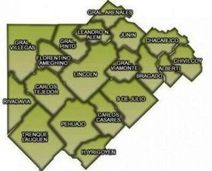 El nuevo mapa electoral de la Cuarta Sección luego del acuerdo UCR-PRO
