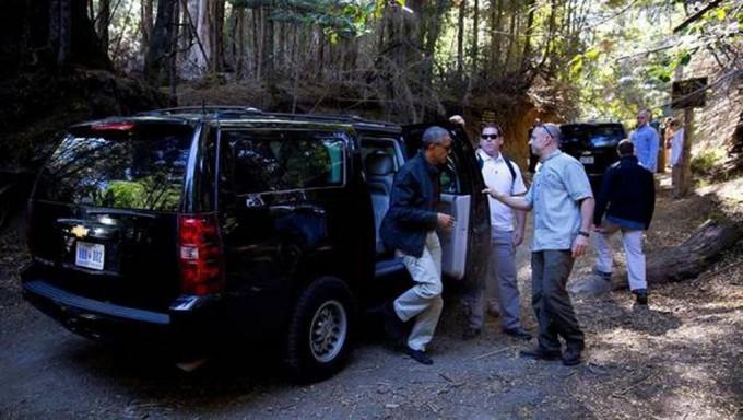 Obama recorrió el lago Nahuel Huapi en Bariloche