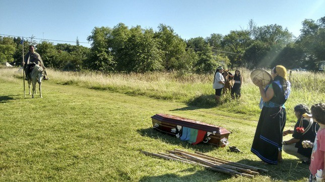 Mapuches de Los Toldos buscan reactivar un cementerio ancestral de la comunidad