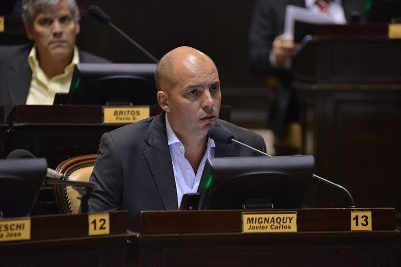El diputado Mignaquy pidiò la urgente designaciòn del Ministro de la Producciòn Pcial