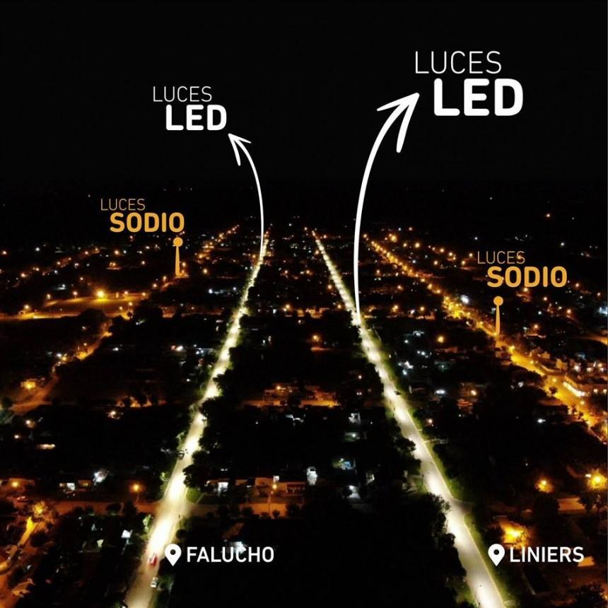 Flexas encendió junto a los vecinos 92 luminarias LED en uno de los barrios más olvidados de Los Toldos
