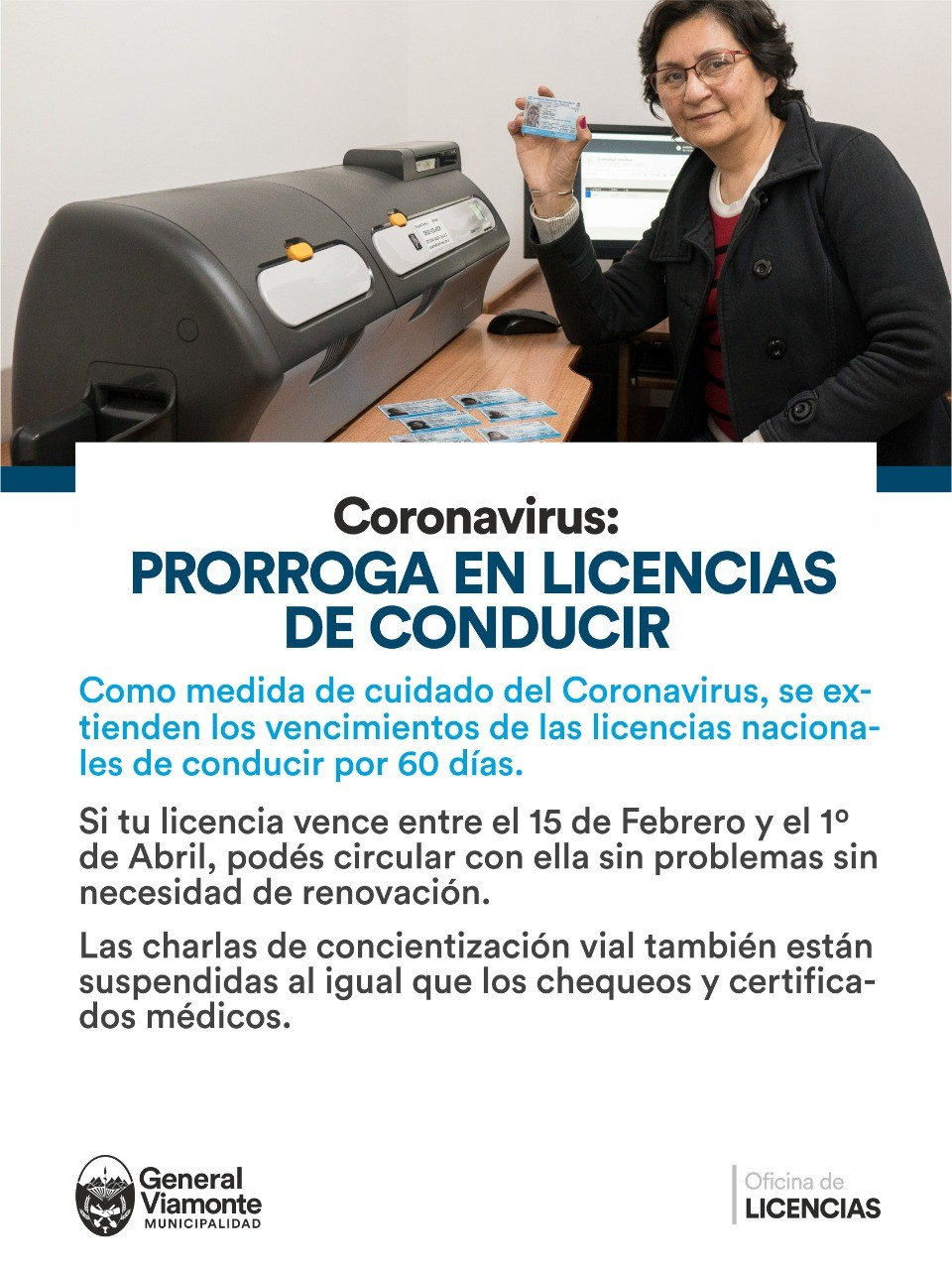 Coronavirus: PRORROGA EN LICENCIAS DE CONDUCIR