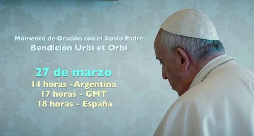El papa exhibirá a una Plaza de San Pedro vacía el Santísimo Sacramento. El obispo deja un mensaje