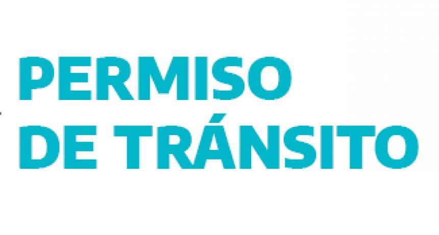 Sistema de permisos de circulación en la provincia para casos excepcionales.