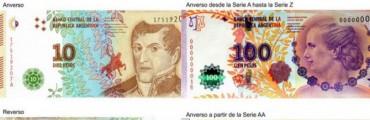 El Banco Central modificó el billete de $100 de Evita y puso en circulación uno nuevo de $10