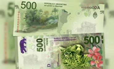 Los nuevos billetes de $500 entrarán en circulación en julio