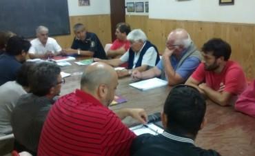 Autoridades de la policia local, se reúnen con las instituciones deportivas