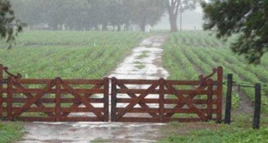 La lluvia en las localidades del Partido